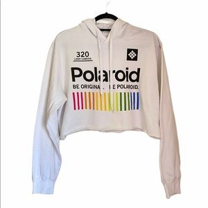 Polaroid Cropped Hoodie Sweater